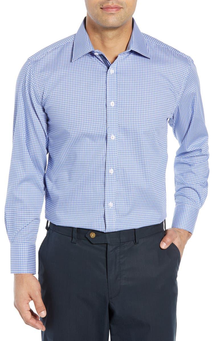ENGLISH LAUNDRY Regular Fit Check Dress Shirt, Main, color, BLUE