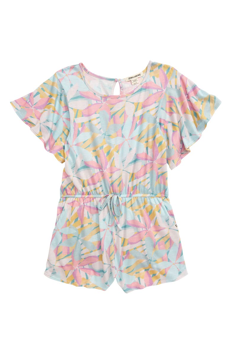 BILLABONG Send Me Tulips Romper, Main, color, MULTI