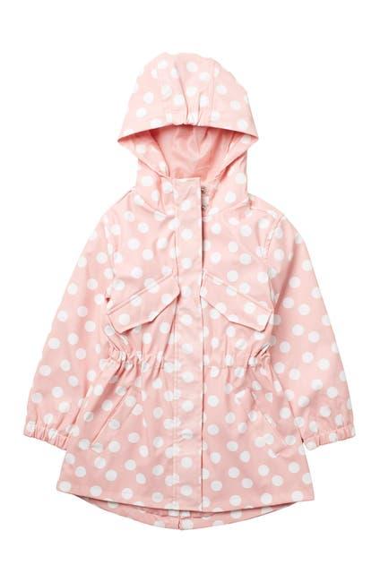 Image of Urban Republic Polka Dot Hoodie Rain Coat Anorak