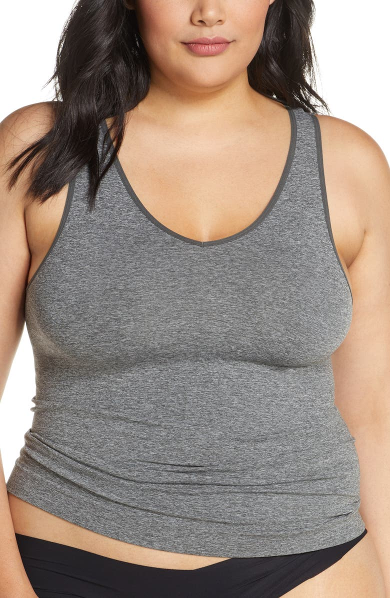 HALOGEN<SUP>®</SUP> Seamless Two-Way Tank, Main, color, DARK STEEL HEATHER