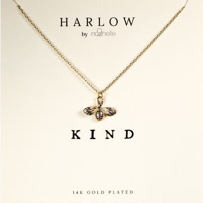 Harlow By Nashelle Kind Bumblebee Boxed Necklace