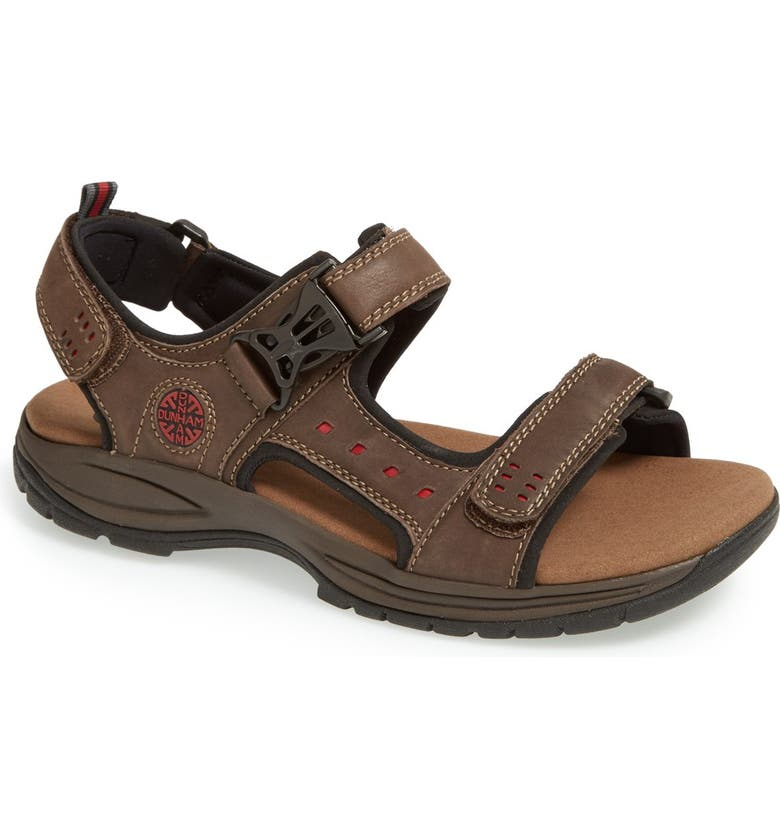 DUNHAM 'Nolan' Sandal, Main, color, BROWN