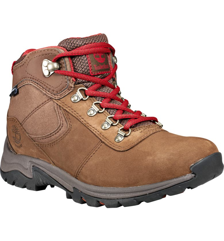 TIMBERLAND Mt. Maddsen Waterproof Hiking Boot, Main, color, RUST NUBUCK LEATHER