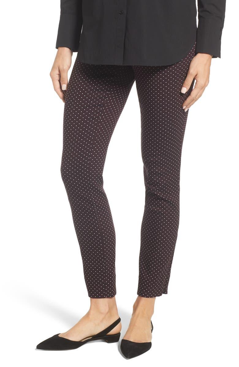 NIC+ZOE Wine Dot Pants, Main, color, 609