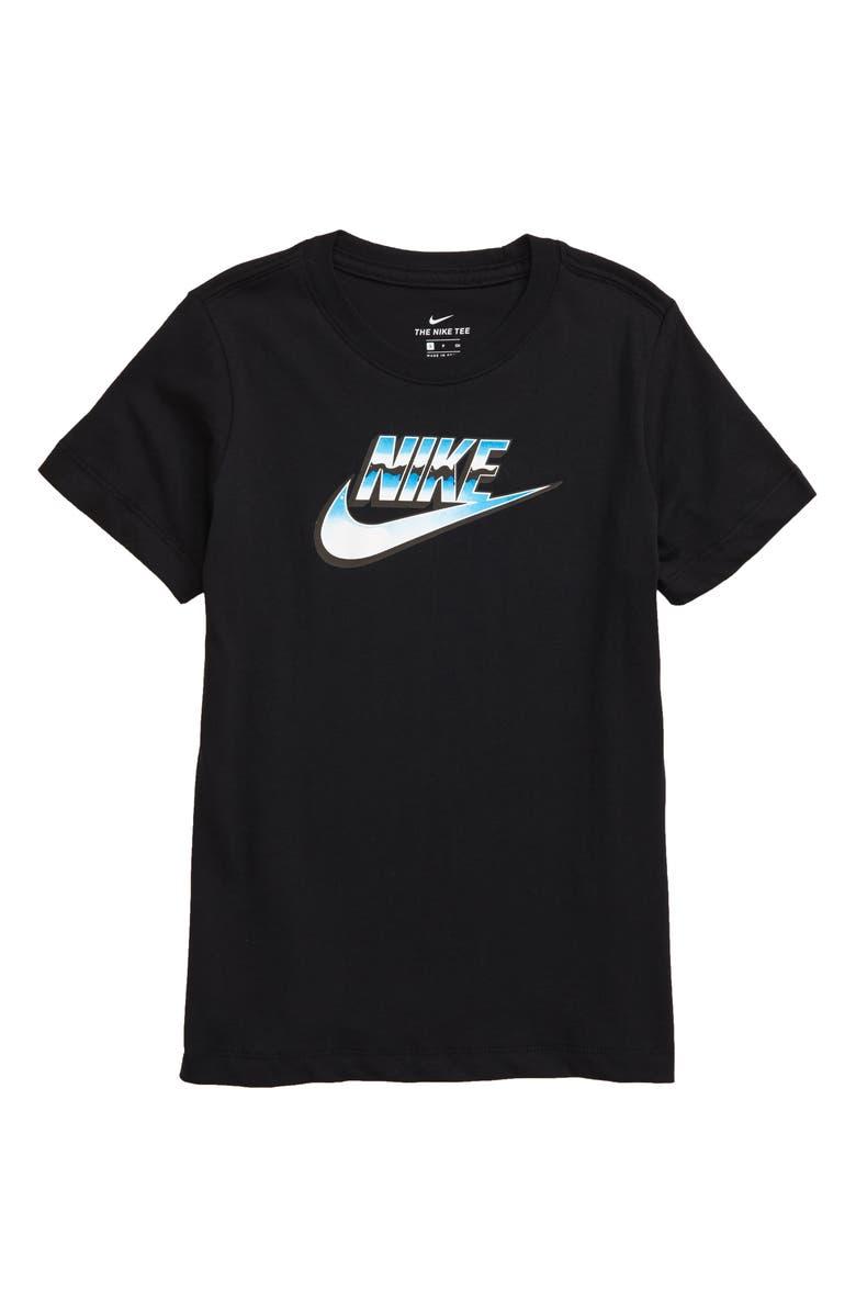 NIKE Logo T-Shirt, Main, color, BLACK