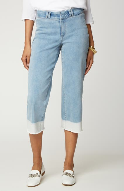 Image of NYDJ Wide Leg Capri Pants
