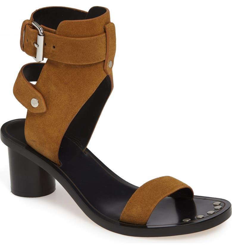 ISABEL MARANT Jaeryn Ankle Shield Sandal, Main, color, 200