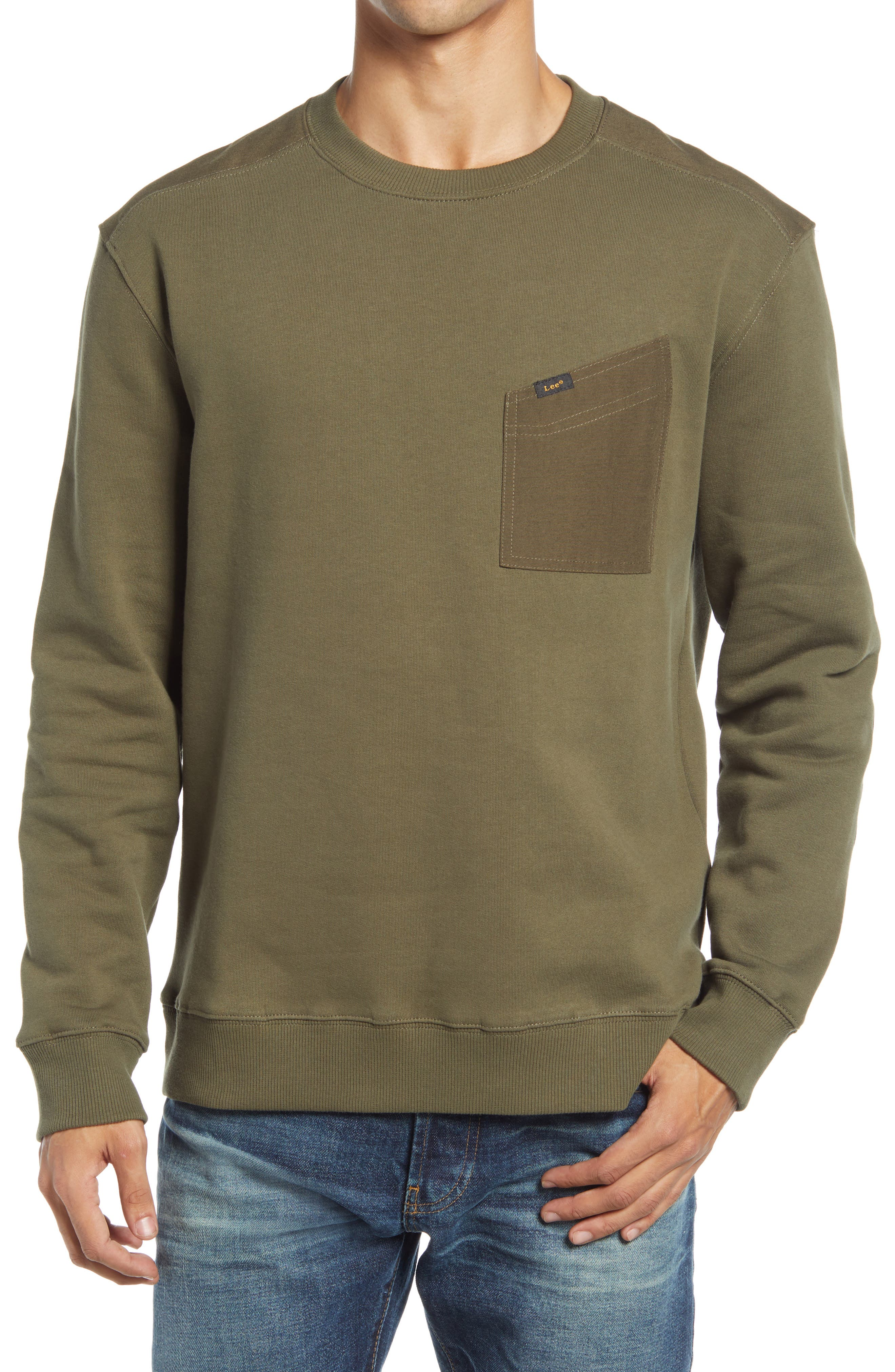 Military Detail Sweatshirt