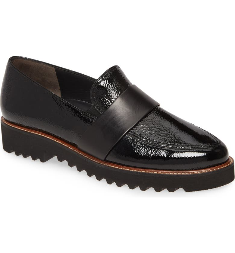 PAUL GREEN Beagan Loafer, Main, color, BLACK CRINKLE