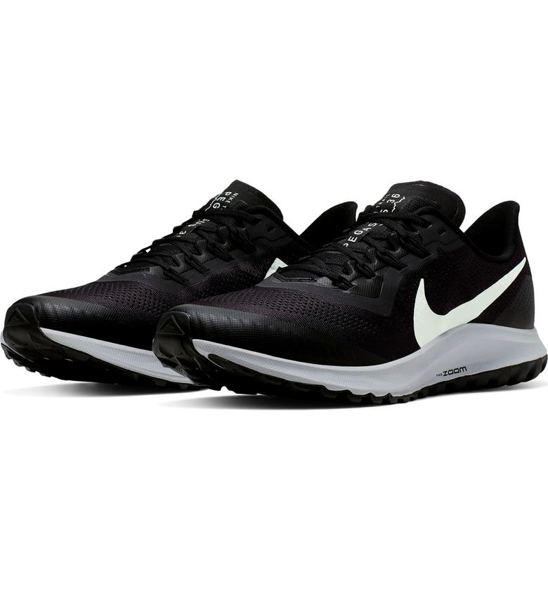 NIKE Air Zoom Pegasus 36 Trail Running Shoe, Main, color, OIL GREY/ BARELY GREY/ BLACK