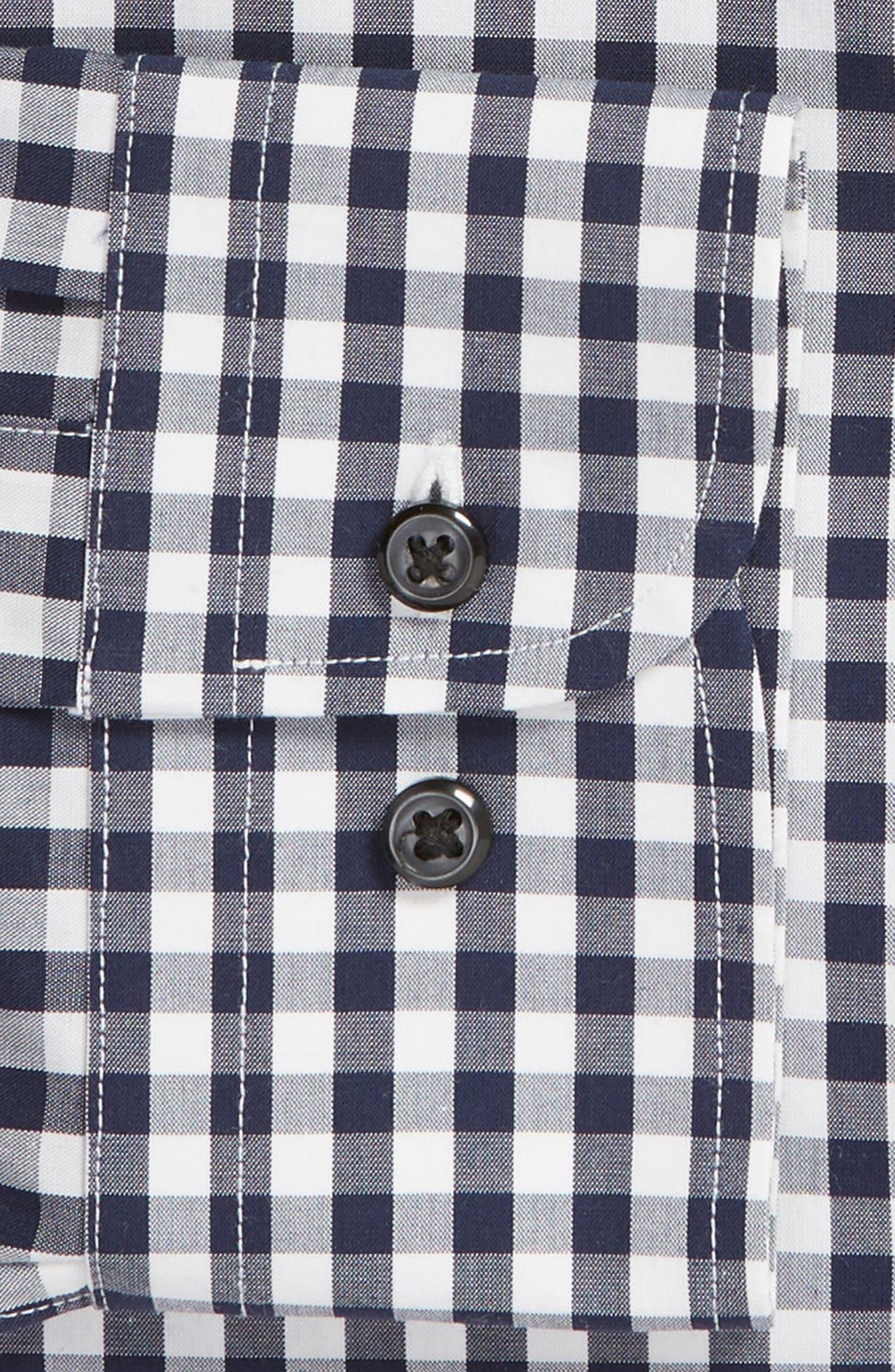 ,                             Tech-Smart Trim Fit Stretch Check Dress Shirt,                             Alternate thumbnail 20, color,                             401