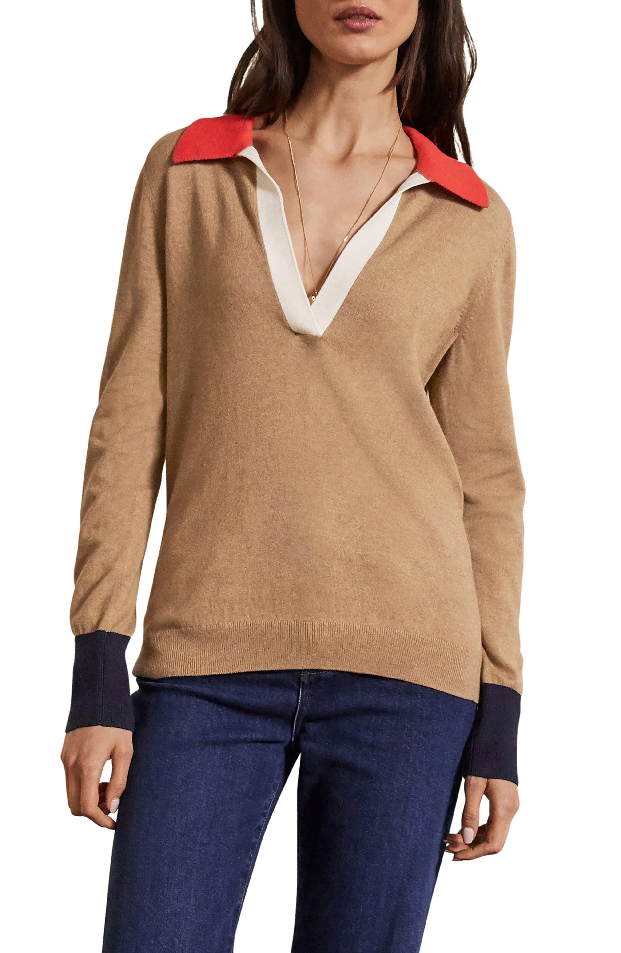 Plus Size Women's Boden Collar Sweater