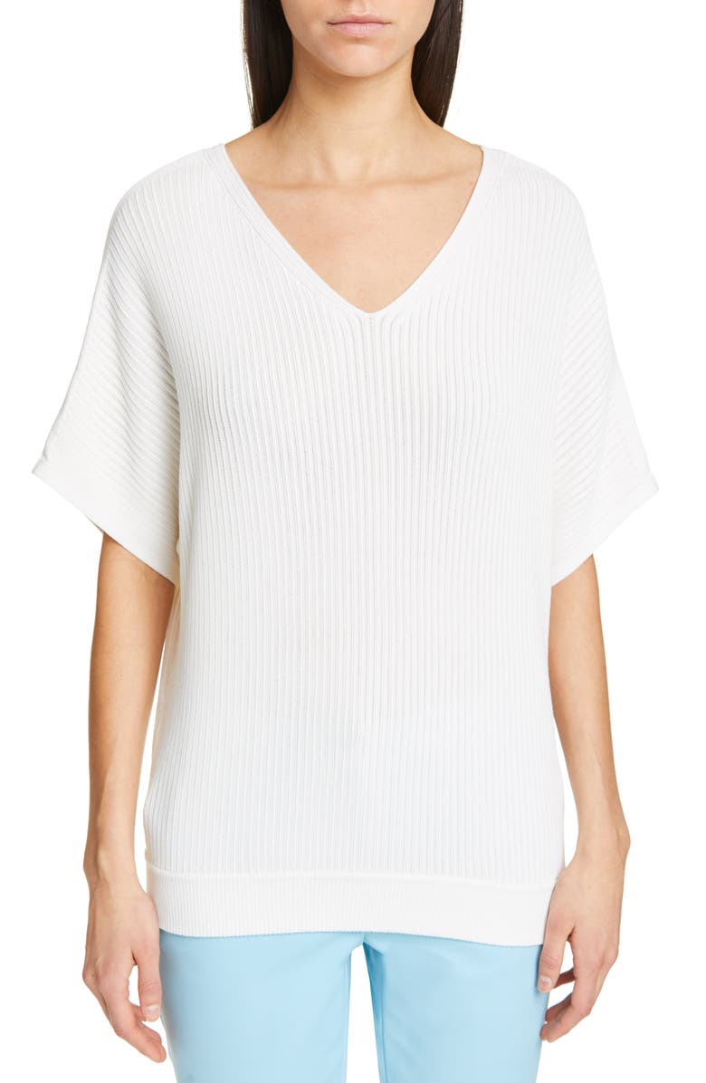 LAFAYETTE 148 NEW YORK Dolman Sweater, Main, color, 100