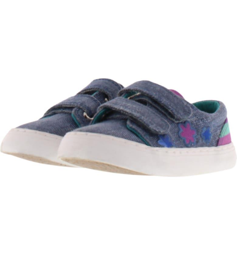CHOOZE Move Flower Appliqué Sneaker, Main, color, DENIM