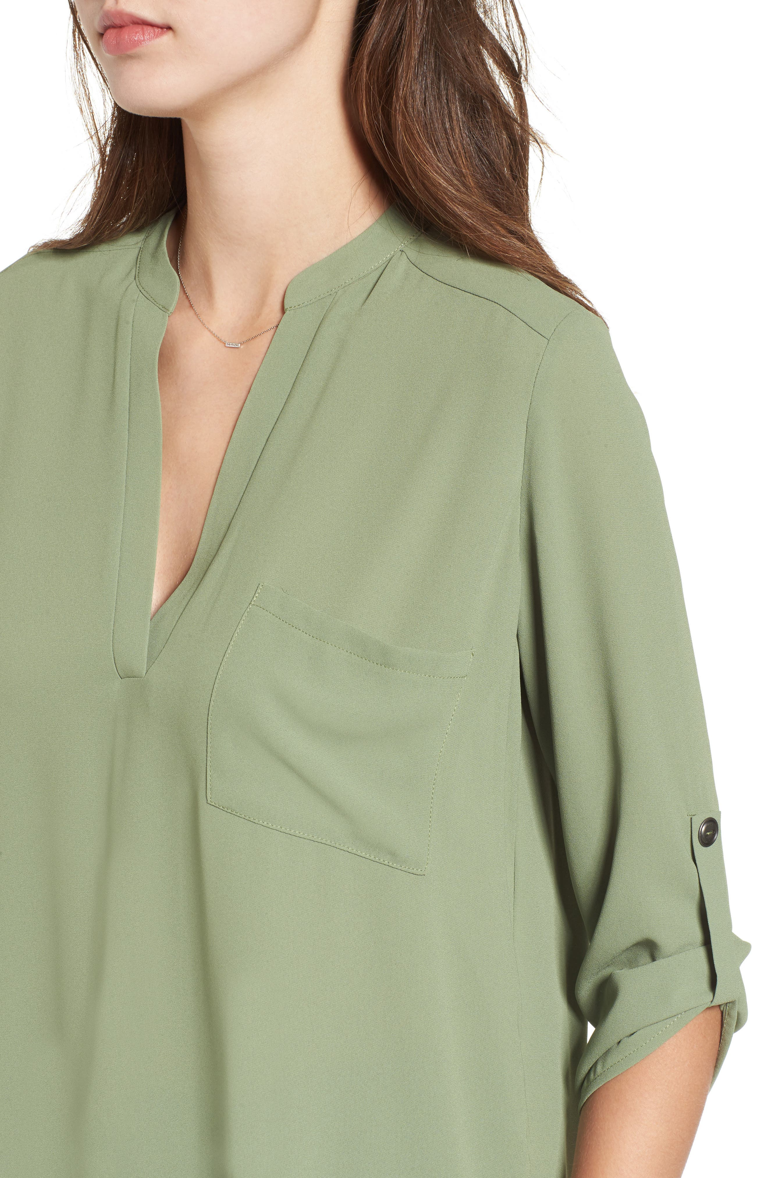 ,                             Perfect Roll Tab Sleeve Tunic,                             Alternate thumbnail 242, color,                             310