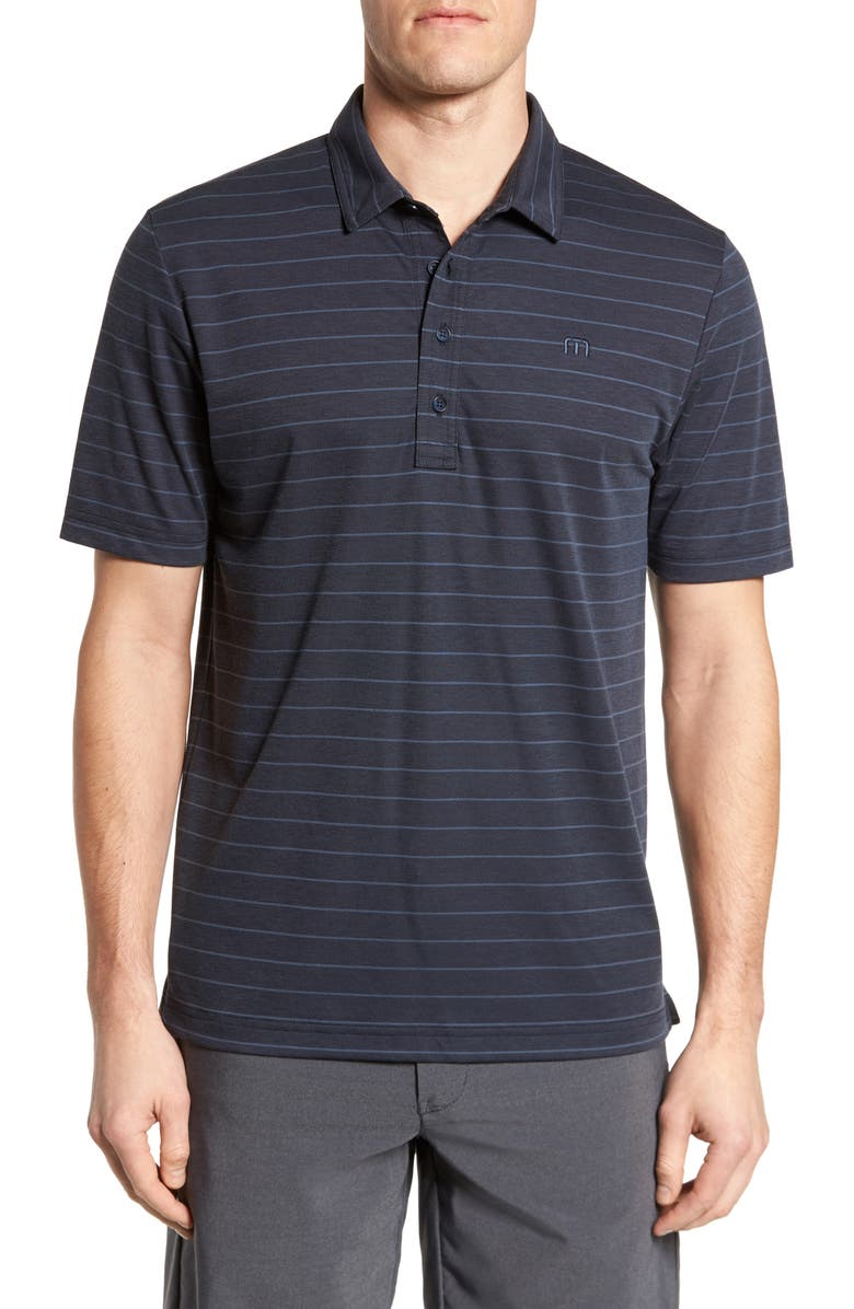 TRAVISMATHEW Marini Polo Shirt, Main, color, BLUE NIGHTS/ ALLURE