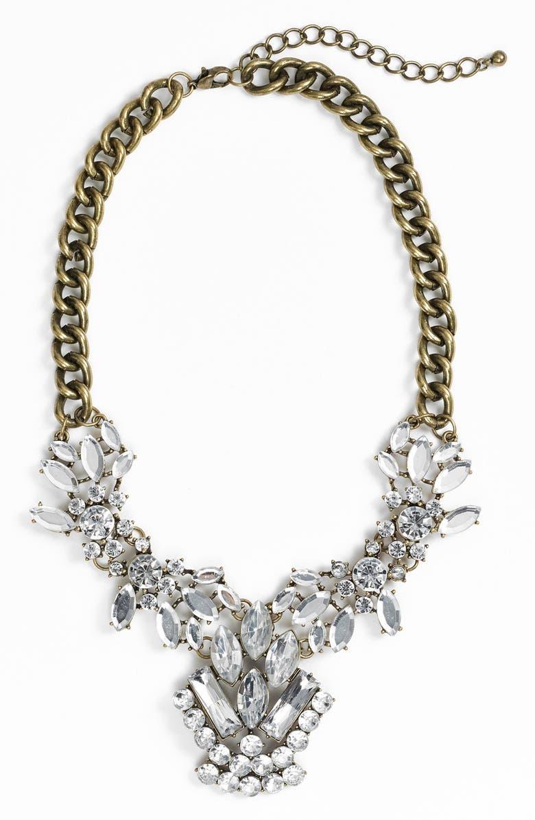 BP. Crystal Cluster Bib Necklace, Main, color, 650