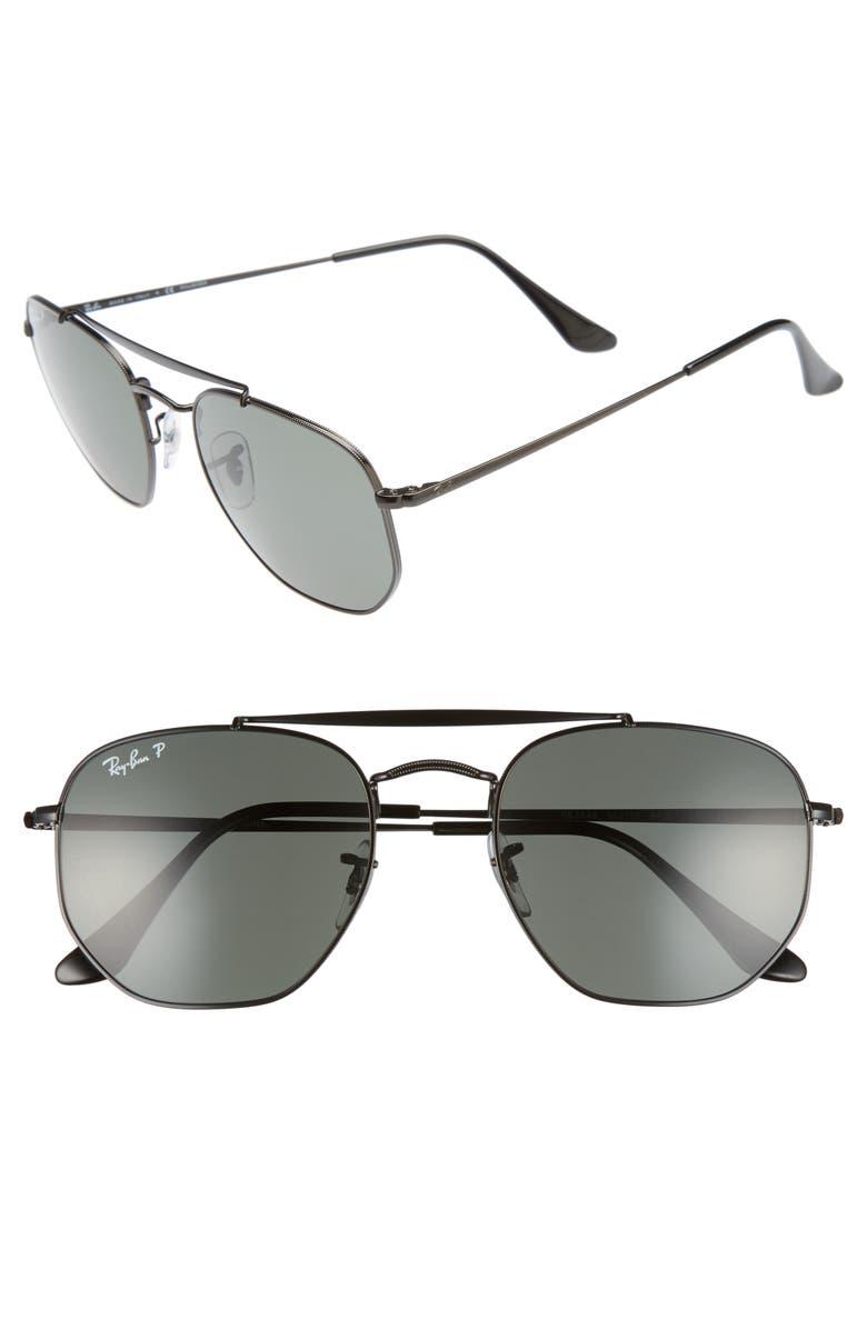 RAY-BAN The Ja-Jo 54mm Round Sunglasses, Main, color, 002