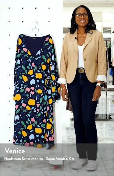 Long Sleeve Midi Wrap Dress, sales video thumbnail