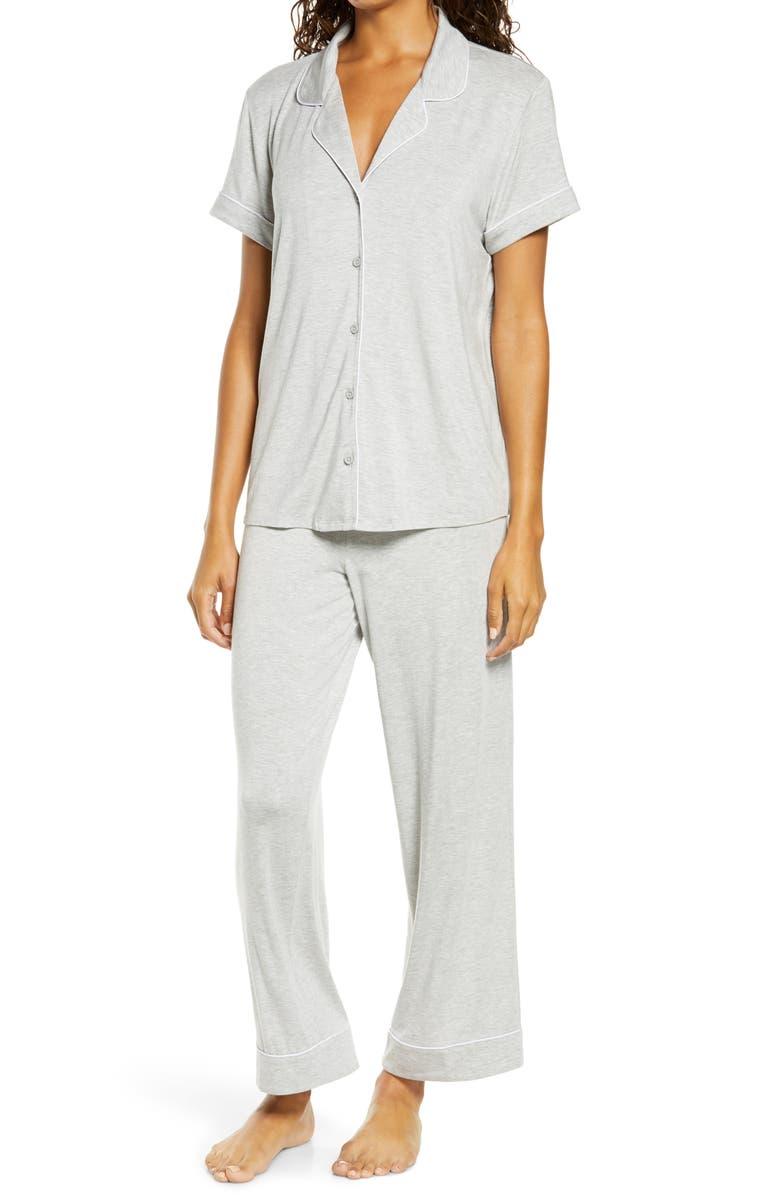 NORDSTROM Moonlight Dream Crop Pajamas, Main, color, GREY HEATHER