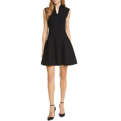 Ted Baker London Sleeveless Knit Skater Dress, (fits like 00 US) - Black