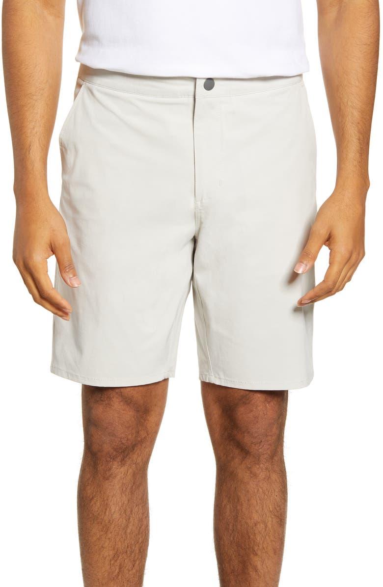 JOHNNIE-O Dawn 2 Dusk Hybrid Shorts, Main, color, STONE