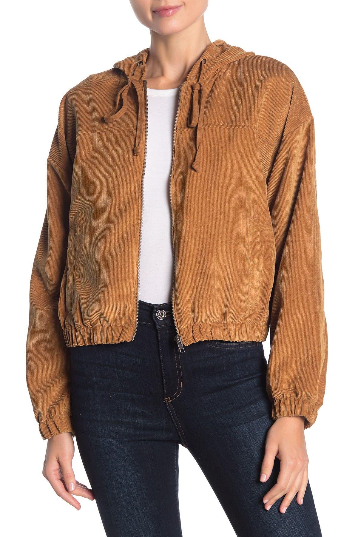 Image of Blu Pepper Corduroy Hooded Jacket
