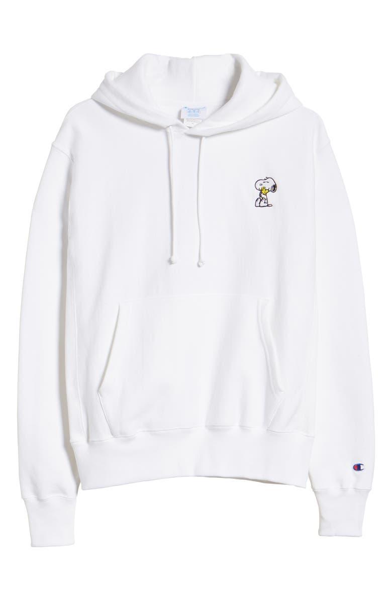 CHAMPION x Peanuts<sup>®</sup> Snoopy Hug Hoodie, Main, color, 100