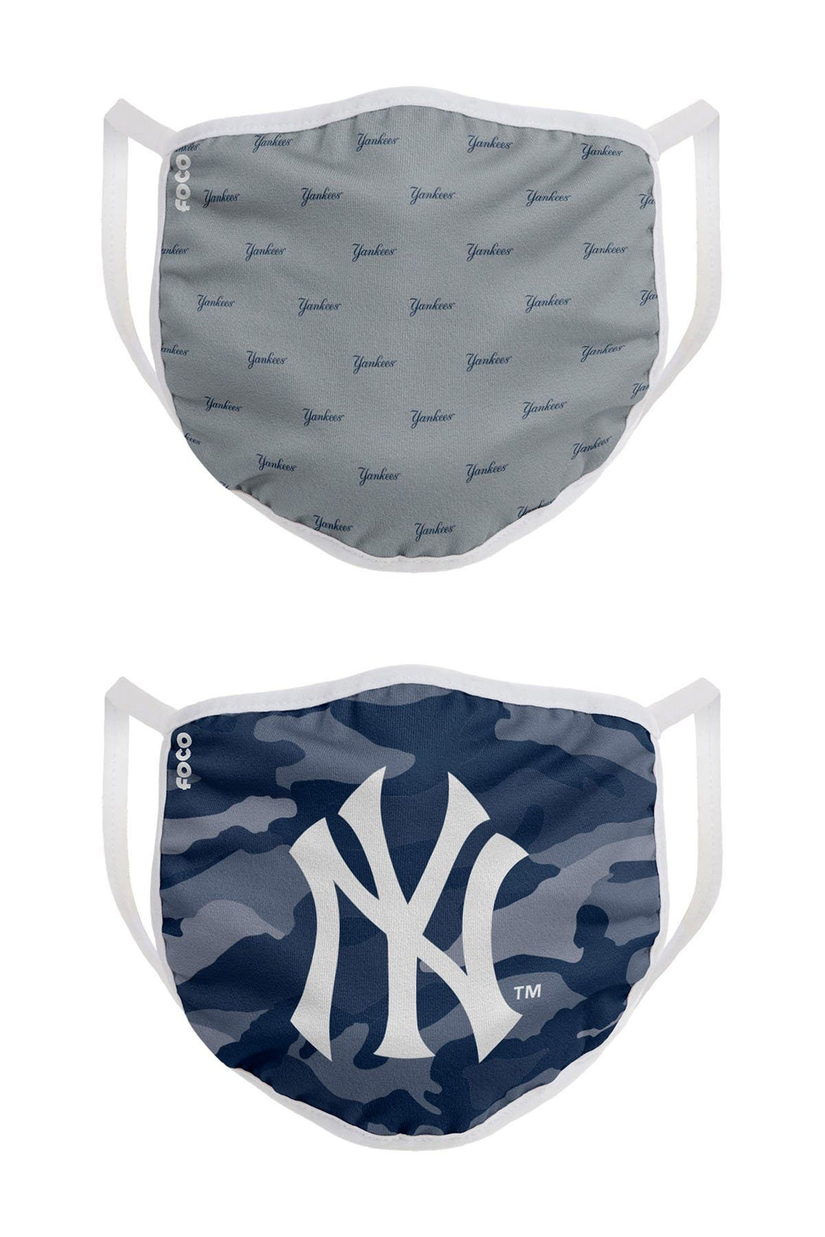 Image of FOCO MLB New York Yankees Clutch Printed Face Cover - Pack of 2