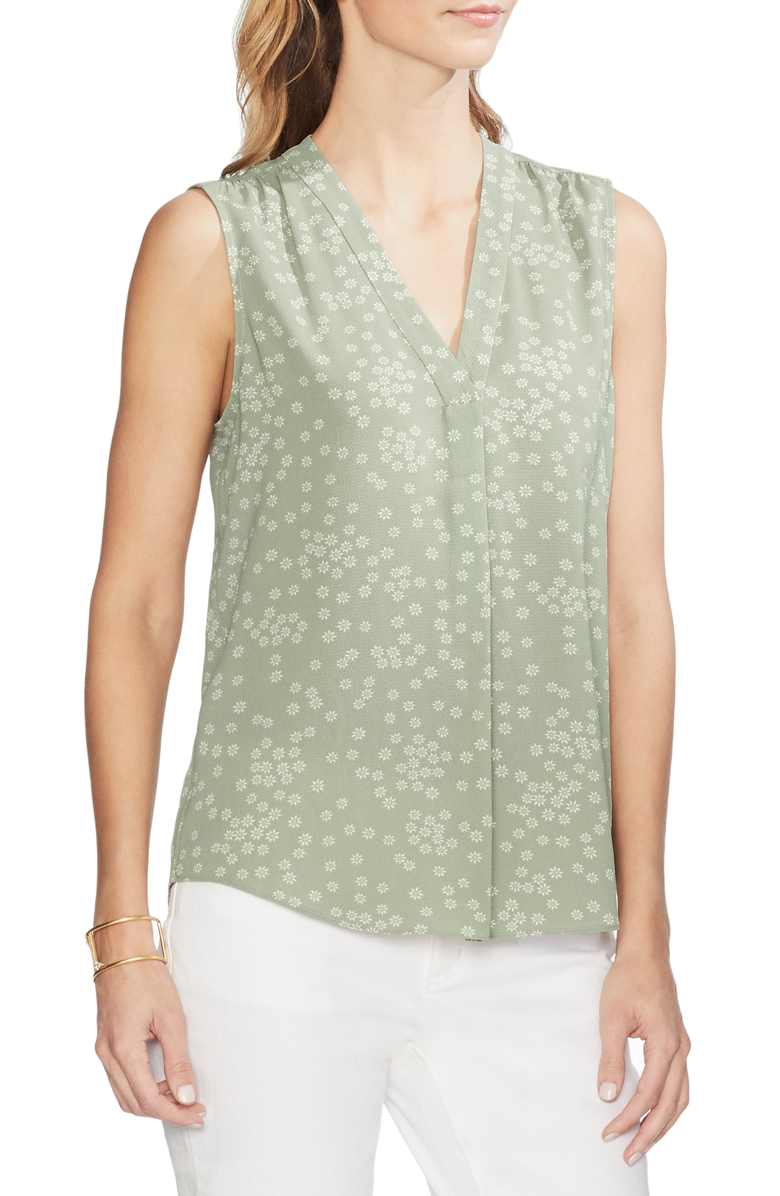 Ditsy Showers Blouse, Main, color, 386