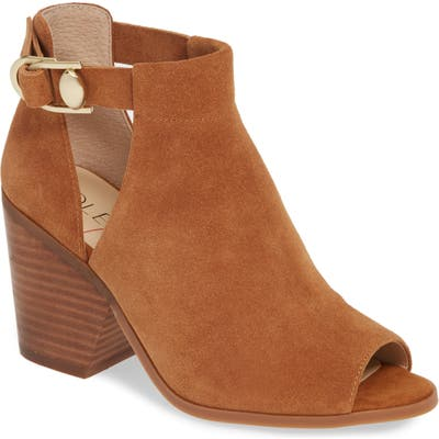 Sole Society Caprica Open Toe Bootie- Brown
