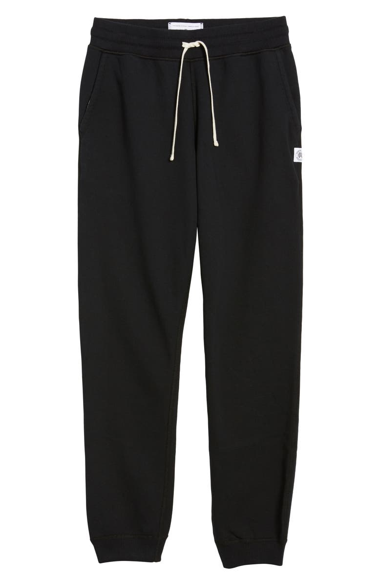 REIGNING CHAMP Slim Fit Sweatpants, Main, color, BLACK
