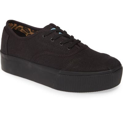 Toms Cordones Boardwalk Sneaker- Black