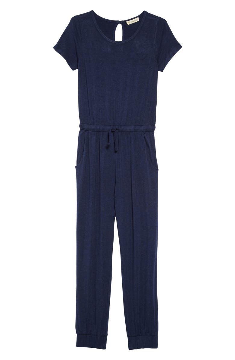 TUCKER + TATE Sunday Jumpsuit, Main, color, NAVY PEACOAT HEATHER