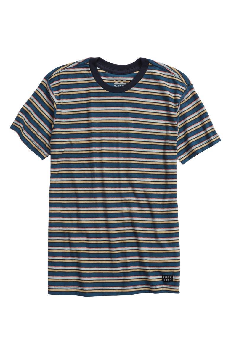 BILLABONG Die Cut Stripe Ringer T-Shirt, Main, color, 415