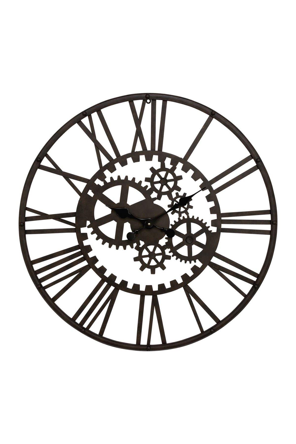 Image of Willow Row Metal Cutout Gear Wall Clock