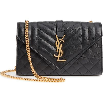 Saint Laurent Small Cassandra Leather Shoulder Bag -