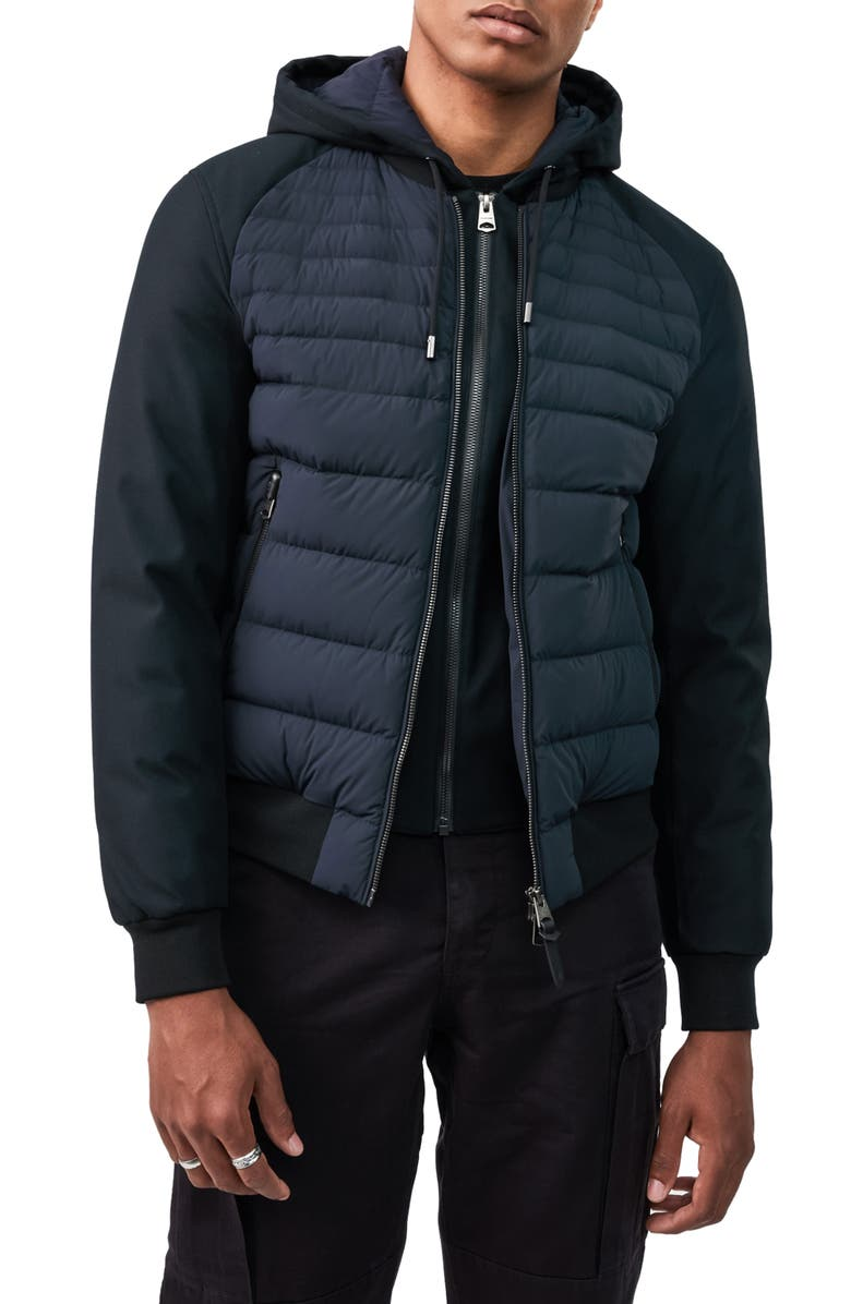 MACKAGE Eryk Down Jacket with Removable Hooded Bib, Main, color, NAVY