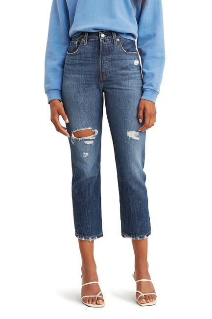 Image of Levi's 501 Crop Jeans