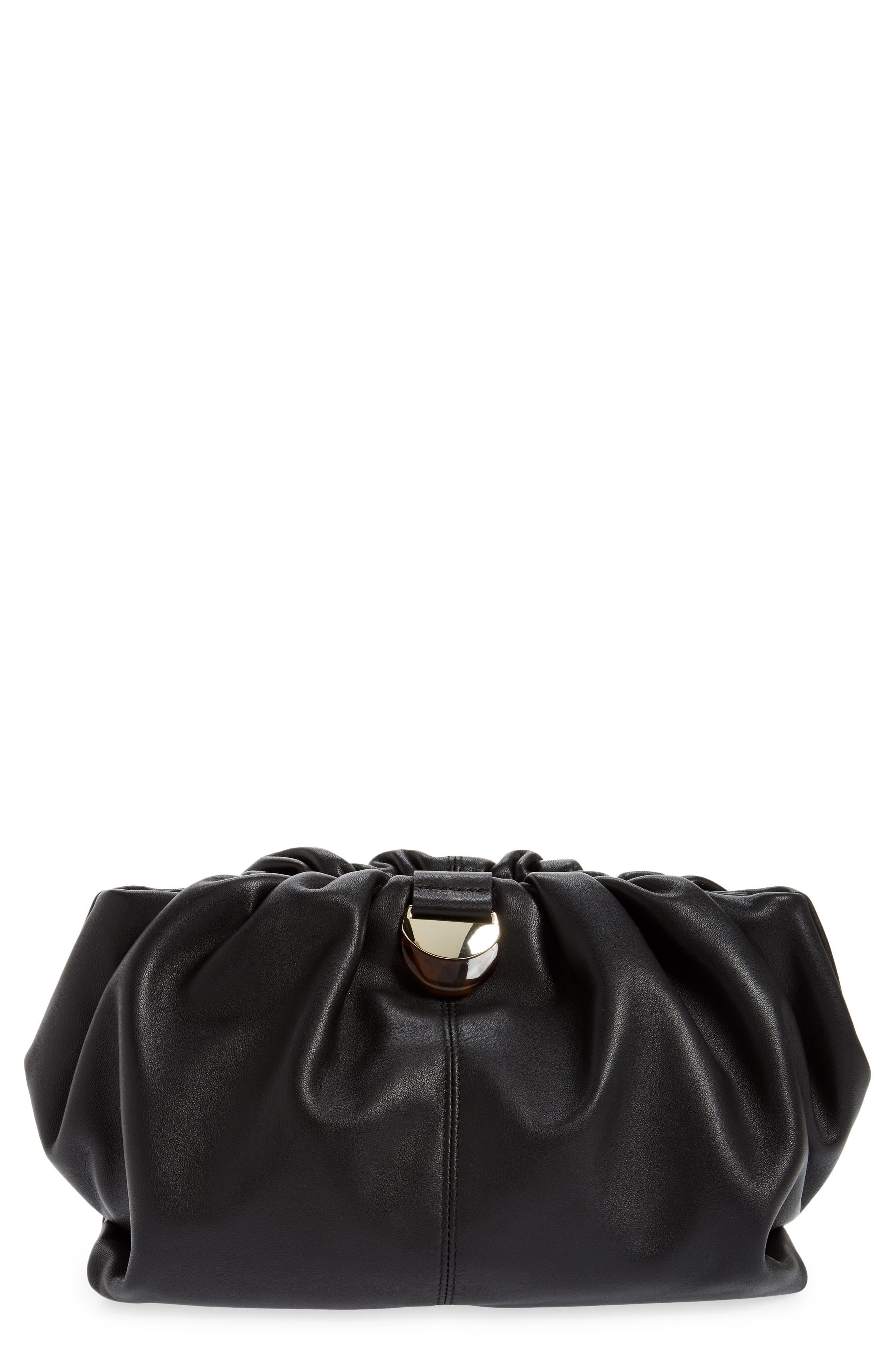 Analeigh Oversize Leather Clutch