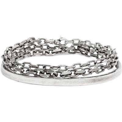 Title Of Work Sterling Silver Anchor Chain Cuff