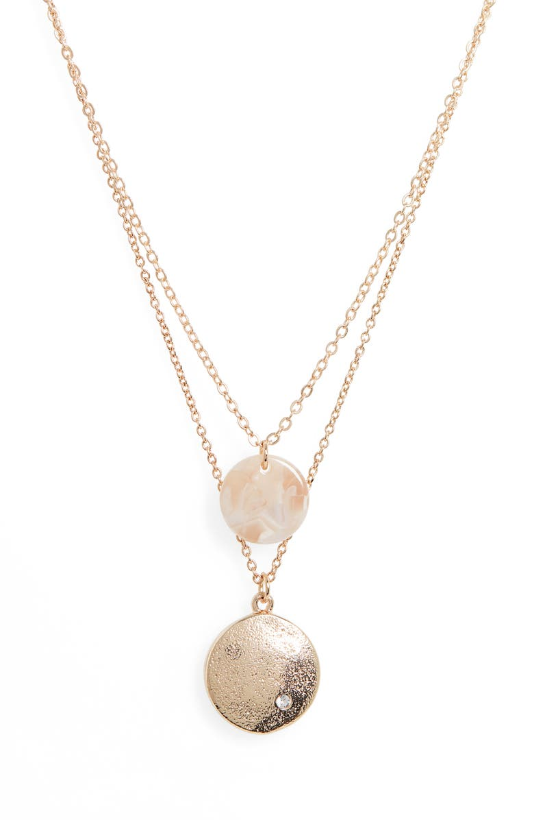 BP. Layered Pendant Necklace, Main, color, NATURAL- GOLD