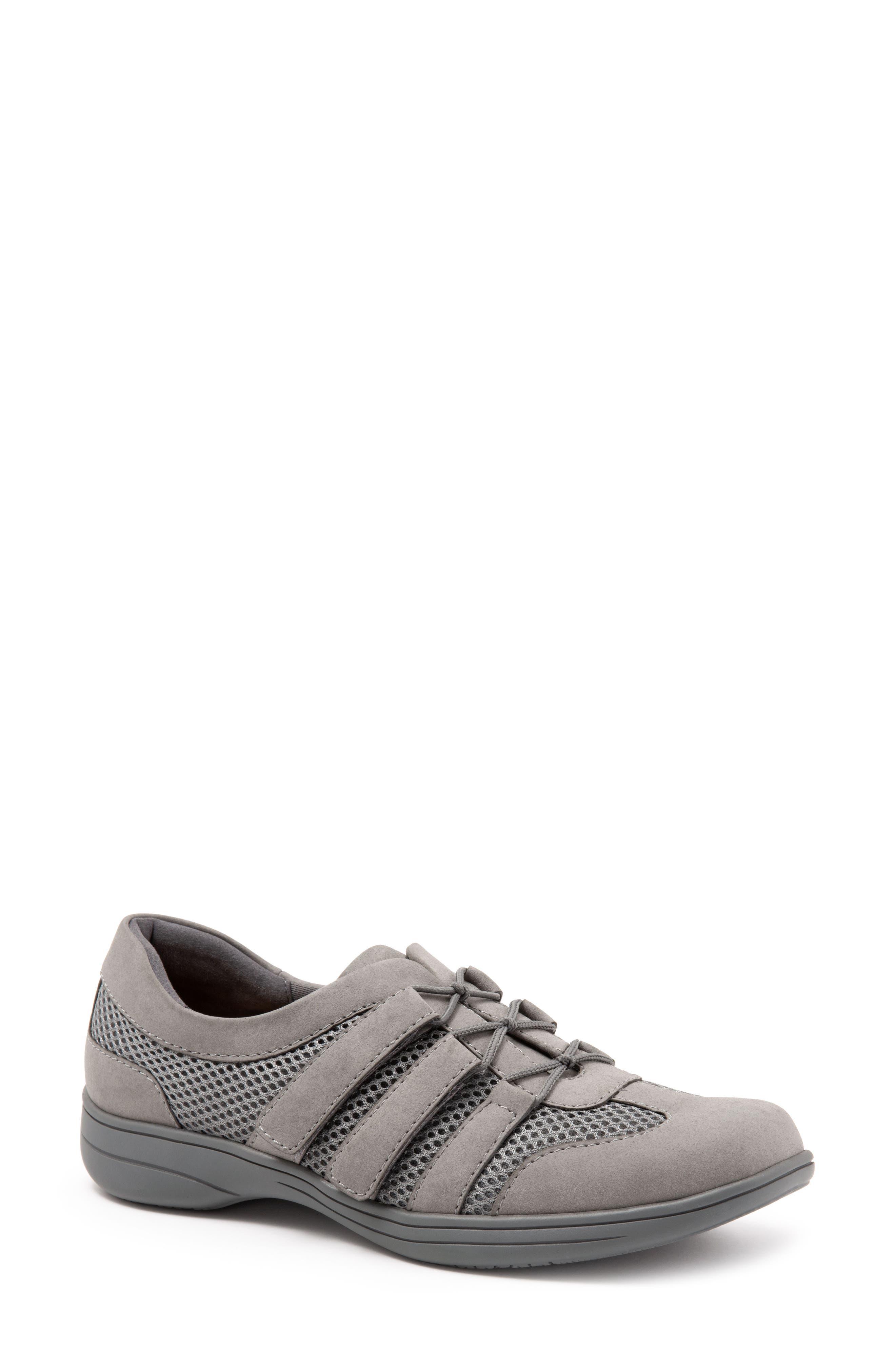 Trotters Joy Slip-On Sneaker- Grey