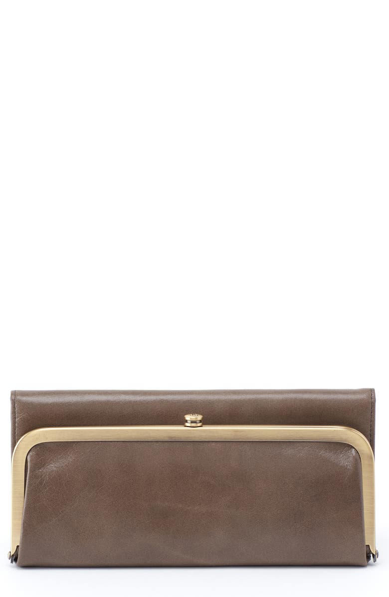 HOBO Rachel Frame Wallet, Main, color, SHADOW