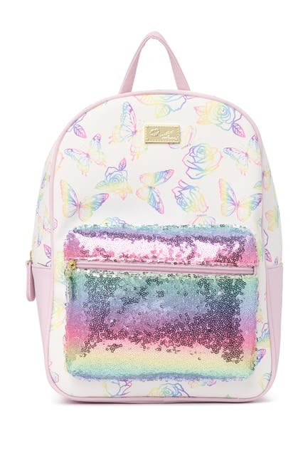 Image of LUV BETSEY BY BETSEY JOHNSON Floral Print Backpack