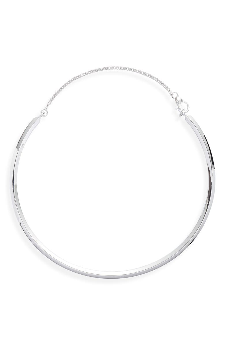ALLSAINTS Smooth Choker, Main, color, SILVER