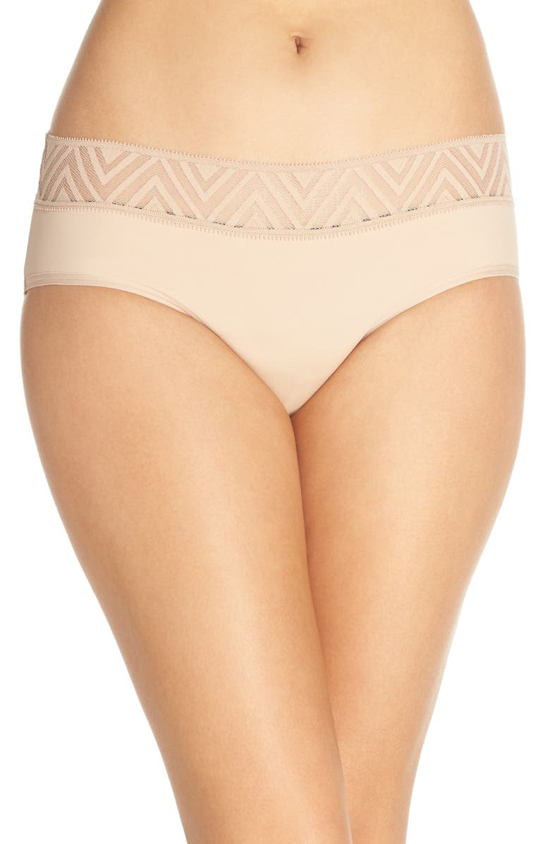 THINX Period Proof Hiphugger Panties, Main, color, BEIGE