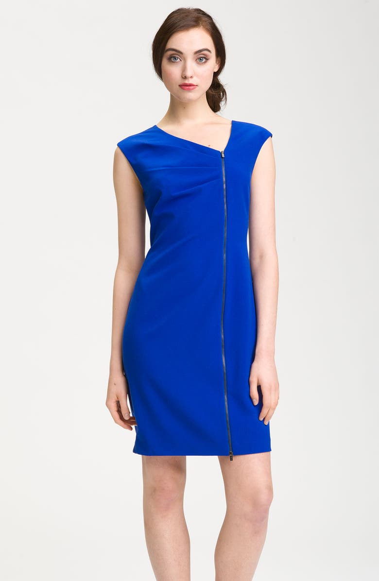 CALVIN KLEIN Jersey Shift Dress, Main, color, 471