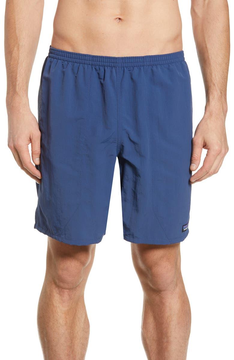 PATAGONIA Baggies 7-Inch Swim Trunks, Main, color, STONE BLUE