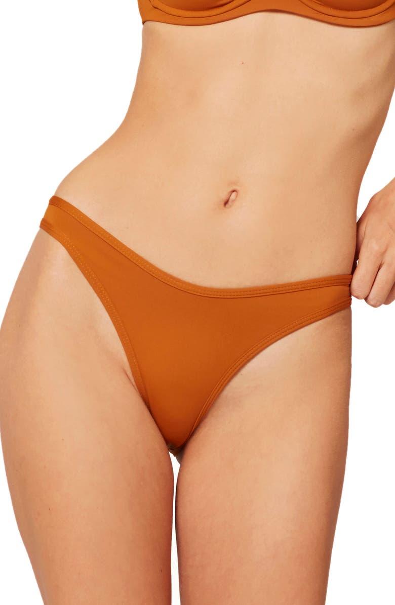 L SPACE Whiplash Bikini Bottoms, Main, color, HAZELNUT